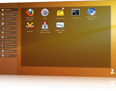 Ubuntu Netbook Edition EFL-based Launcher