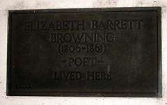 Photo of Elizabeth Barrett Browning black plaque