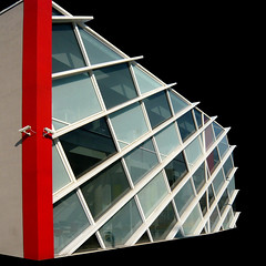 . (elen@c) Tags: red building glass lines architecture geometry milano maciachini elenc