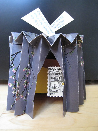 The first of forty small paper sculptures this Lenten season