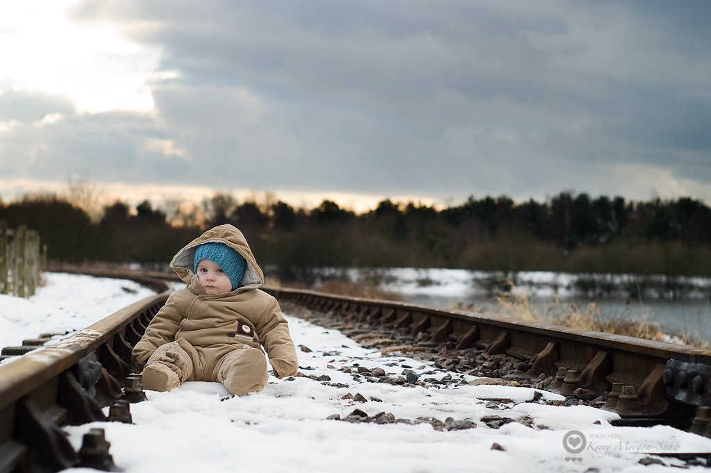 Trains were cancelled due to a baby on the line!