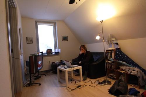 Couchsurfing in Nyborg, Denmark.