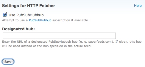 Use PubSubHubBub