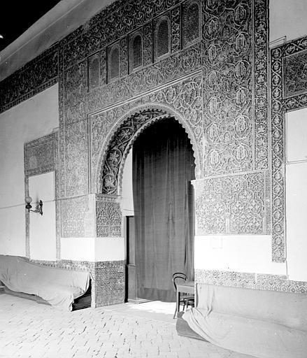 Casa de Mesa en septiembre de 1907. Fotografía de Petit. Société Française d'Archéologie et Ministère de la Culture (France), Médiathèque de l'architecture et du patrimoine (archives photographiques) diffusion RMN