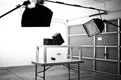 Day Fifty Five Setup Shot (joey_joey_joey) Tags: dj lasvegas bokeh yamaha mixing distressed ringlight project365 msp5 setupshot canoneos1dmarkiii strobist rayflash nearfieldmonitors canonef35mm14lusm