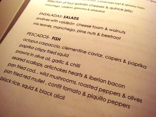 El Pirata Detapas menu