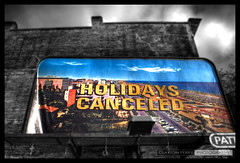 Holidays Canceled (Clayton Perry Photoworks) Tags: street sky canada art love public sign wall vancouver poster hope peace bc heart display britishcolumbia lot billboard explore signage walls hastings downtowneastside pattison olympics dtes w2 hdr 2010 vancouver2010 vancouverolympics culturalolympiad olympicwintergames colorselection sandyplotnikoff thenoseknows van2010 holidayscanceled tnmh claytonperry vancouverolympicwintergames vancouverculturalolympiad endlesslytraversedlandscapes vancouverwintergames nataliedoonan