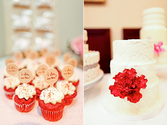 Red Velvet Cupcakes - The Wedding Party