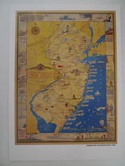 Historical Map of the State of NEW JERSEY (Mumu X) Tags: new usa vintage map postcard jersey reprint