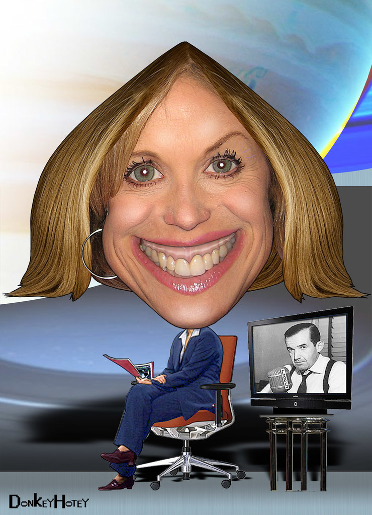 Katie Couric filling the chair
