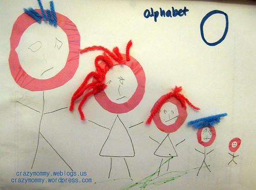 Alphabet craft - Alphabet O