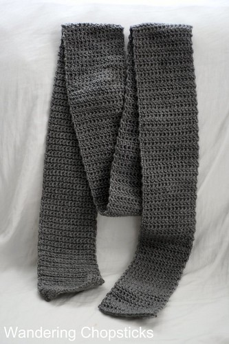 Gray Scarf for Lil Sis's Other Friend 2