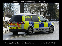 Derbyshire Special Constabulary (Paul Simpson Photography) Tags: winter snow ford car police law enforcement february lawenforcement patrol coppers battenburg 999 hathersage ukpolice february2010 derbyshirepolice policespecials derbyshirespecialconstabulary