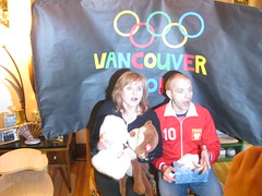02.18.10 Barbara and Greg Kiss and Cry 2 (Leopard Girl) Tags: vancouver olympics 2010 kissandcry 021810