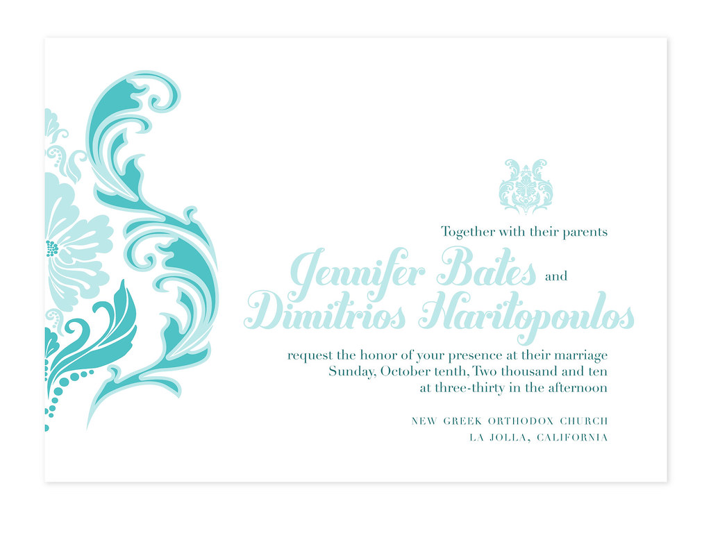 Jenn Bates, Wedding Invite Proofs Option 1