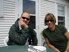 Tom and Nik on the farm