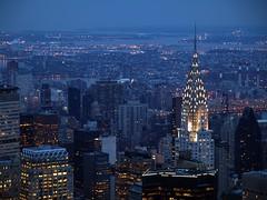 Chrysler Building (mzenayda) Tags: city usa newyork building ciudad empirestate anochecer nightfall nuevayork skyscrapper eeuu edificiochrysler