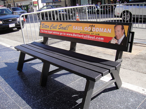 Breaking Bad Screening Lab in Hollywood - Saul Goodman Bench