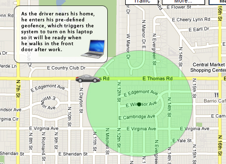 Geofence example