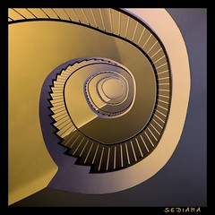 brownie (sediama (break)) Tags: brown stairs germany bravo pentax treppe staircase braun stiege treppenhaus sigma1020mm 10mm stiegenhaus mywinners abigfave k20d sediama igp8194 ©bysediamaallrightsreserved