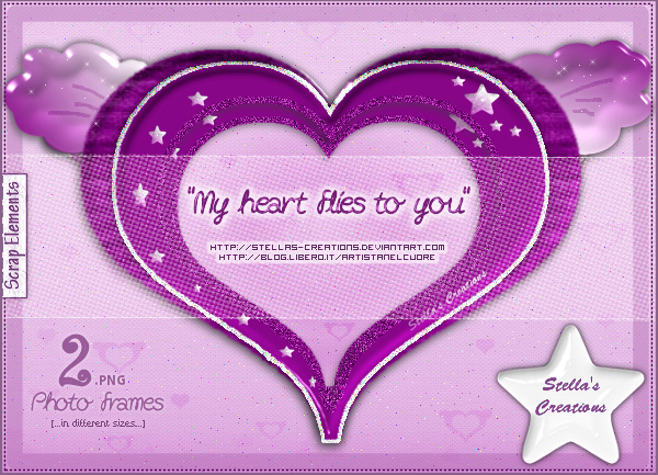 My heart flies to you - © Blog Stella's Creations: http://sc-artistanelcuore.blogspot.com