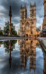 Westminster Abbey (vulture labs) Tags: street city uk blue light england sky urban reflection building london art water westminster abbey thames architecture clouds landscape photography mirror photo nikon europe exposure cityscape image capital hdr cityoflondon lightroom londonskyline photomatix d700 vulturelabs