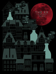 The XX at Lincoln Hall (AdamHanson) Tags: england chicago adam london illustration design jj concert screenprint vinyl minimal retro schubas paulrand lincolnhall artprint saulbass hotchip gigposter thexx adamhanson bloodredmoon nosajthing