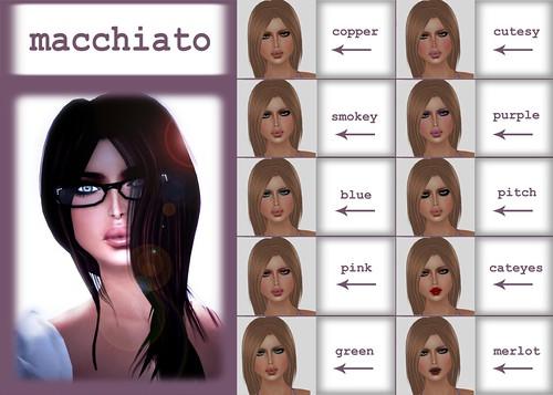 Natalie - color chart macchiato