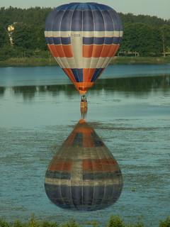 Lidojums ar gaisa balonu. Aglonas ezers.