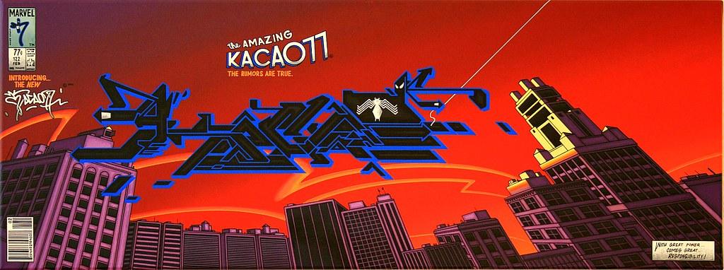 """MARVEL / KACAO77 UNIVERSES CROSSOVERS """"SPIDERMAN BLACK COSTUME"""" 2010"""