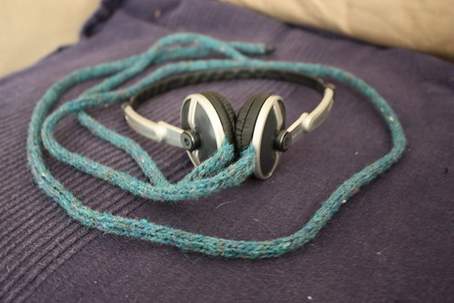 Tweed headphones