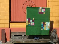 The Green Quilt (r0ssie) Tags: modernquilt bigcitysmallworldbakery denyseschmidtinspired modadillgreen