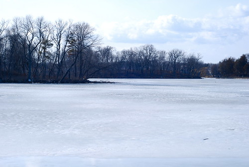 Lake of the Isles, frozen