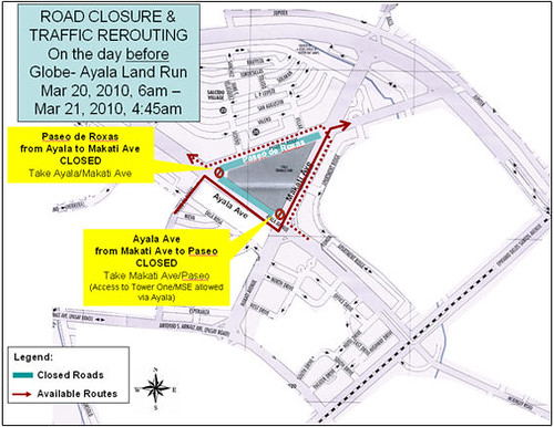 Traffic advisory map march 20