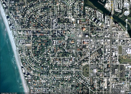 Venice, FL from above (Google Earth)