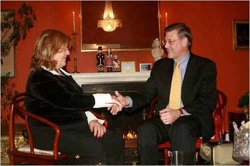 I enjoy meeting powerful female role models such as Greek-American Vicky Tzolis.