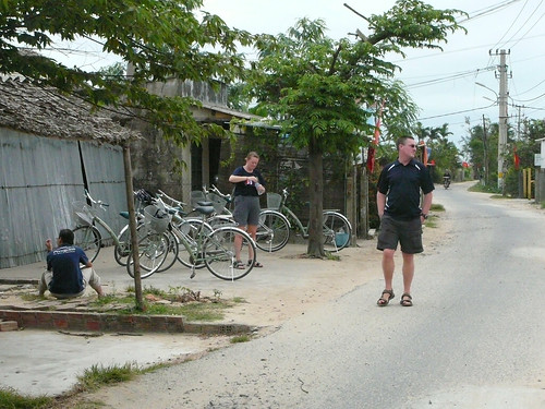 Back streets of Hoi An on our bike ride