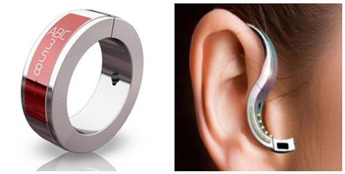 ORB Wireless Earpiece Ring Collage