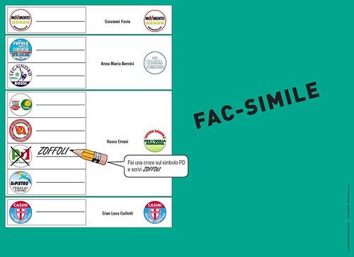 FAC-SIMILE scheda - elezioni regionali del 28 e 29 marzo 2010