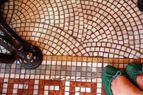 ... 19, 2010 of 365 : mosaic tile floor + green repettos at pastis, nyc