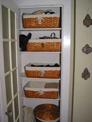 Accessories Closet (Goodbye, House! Hello, Home!) Tags: closet baskets organize