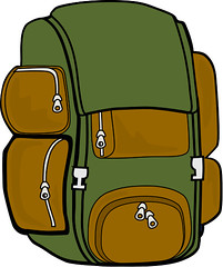 backpack (lil 1/2 pint) Tags: green hiking backpack clipart
