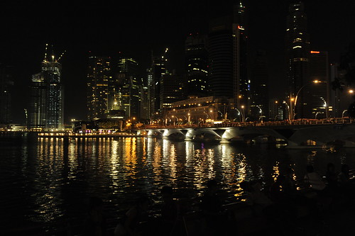 earth hour photos. Singapore during Earth Hour