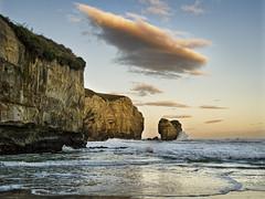 Tunnel Beach (Ian@NZFlickr) Tags: sunset beach rock bravo waves tunnel cliffs nz otago dunedin aotearoa stacks flickrsbest thesuperbmasterpiece