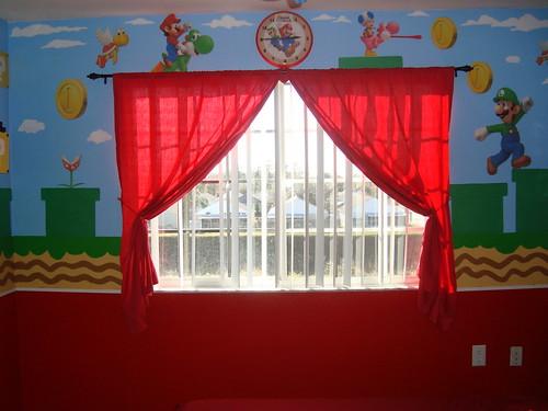 cuarto de mario bros la ventana de el cuarto.