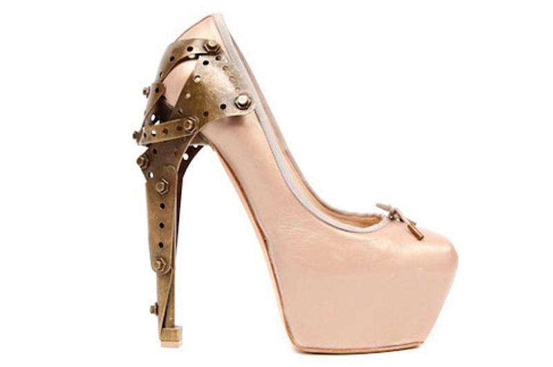 alexander mcqueen SS2010 metal heels 3