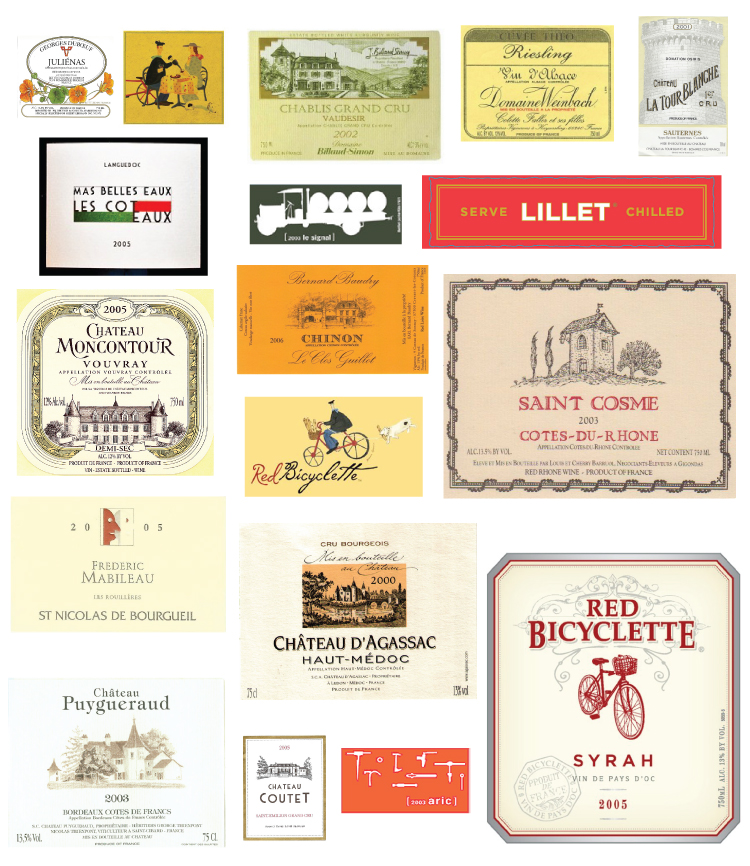 French Wine labels