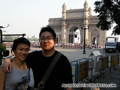 Antoerh picture with the  Gateway of India as backdrop