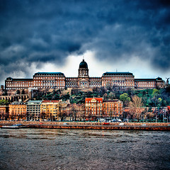 Buda Castle (Faisal!) Tags: trip castle rain clouds river europe flickr hungary day cloudy budapest duna hdr buda donau