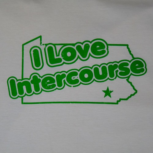 I LOVE INTERCOURSE PA T-SHIRT